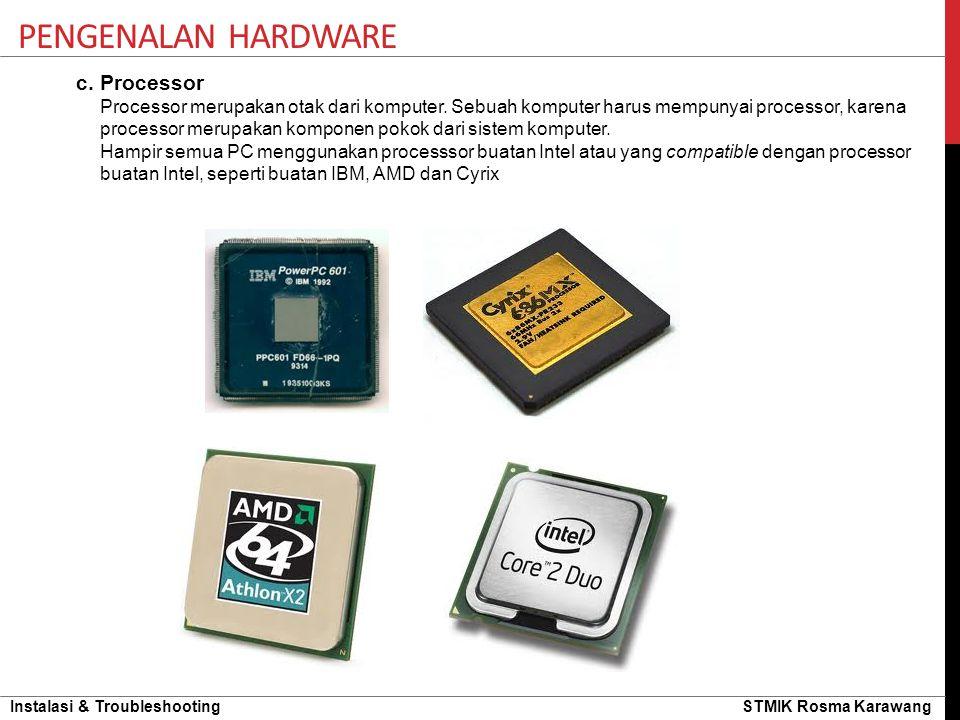 Pengenalan hardware c. Processor
