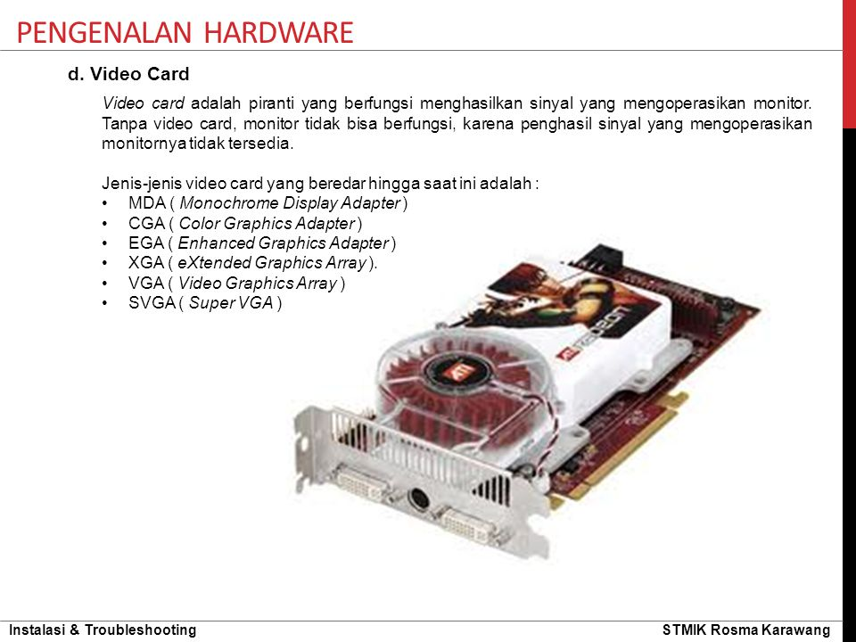 Pengenalan hardware d. Video Card