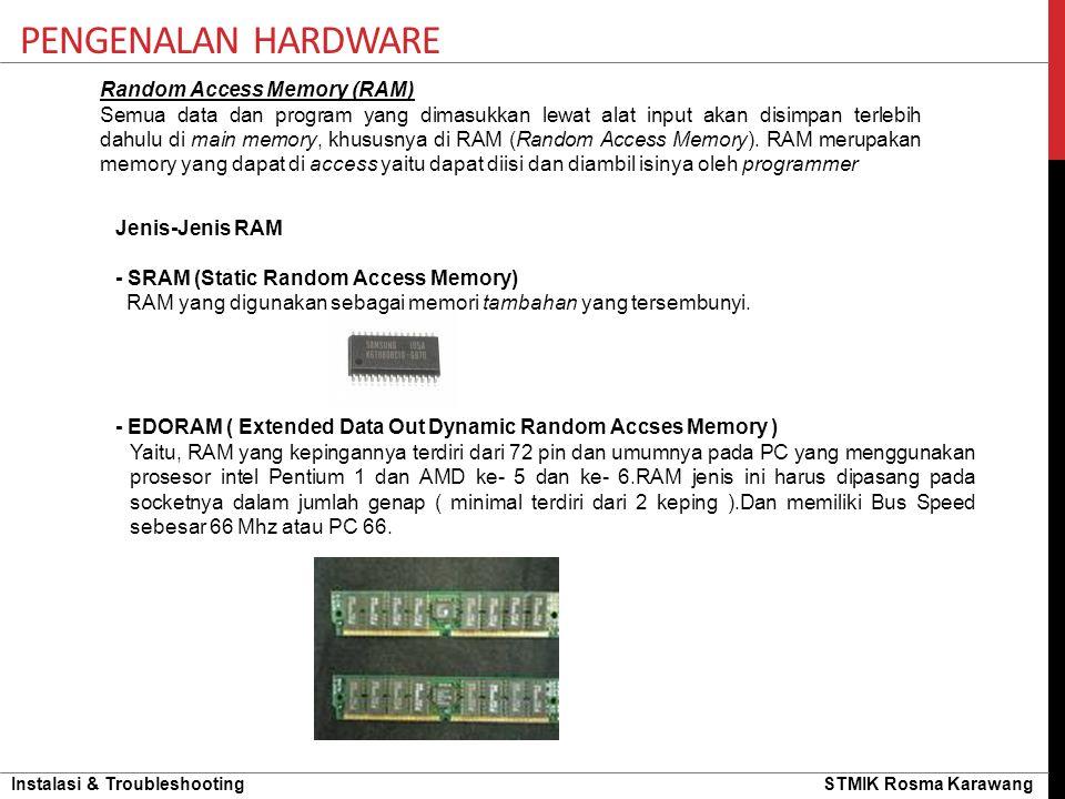 Pengenalan hardware Random Access Memory (RAM)