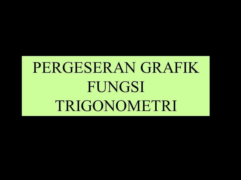 PERGESERAN GRAFIK FUNGSI TRIGONOMETRI