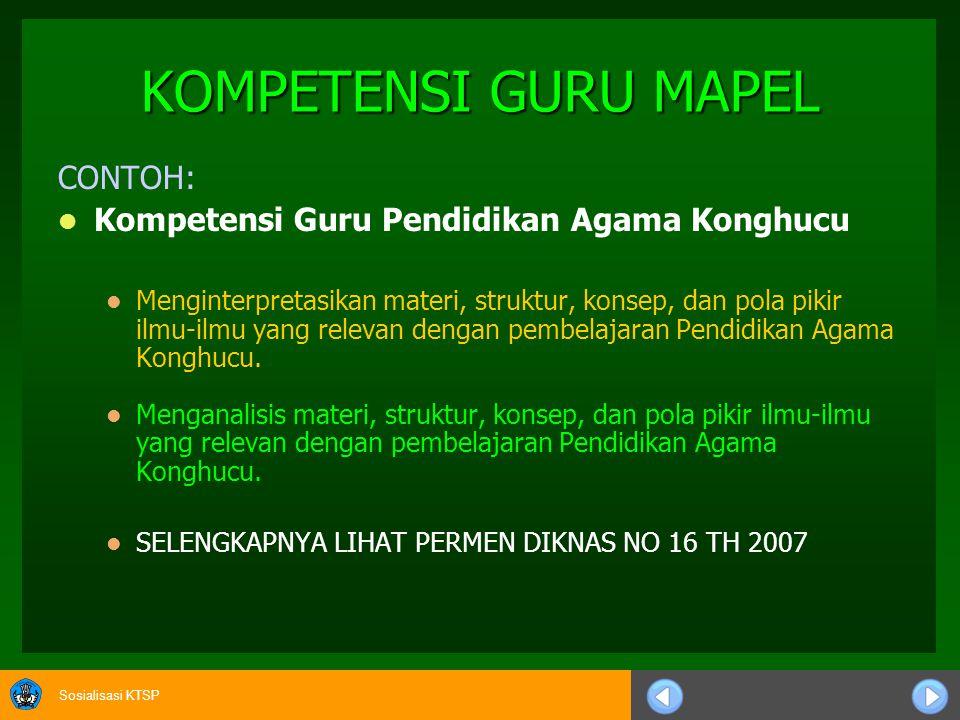 KOMPETENSI GURU MAPEL CONTOH: