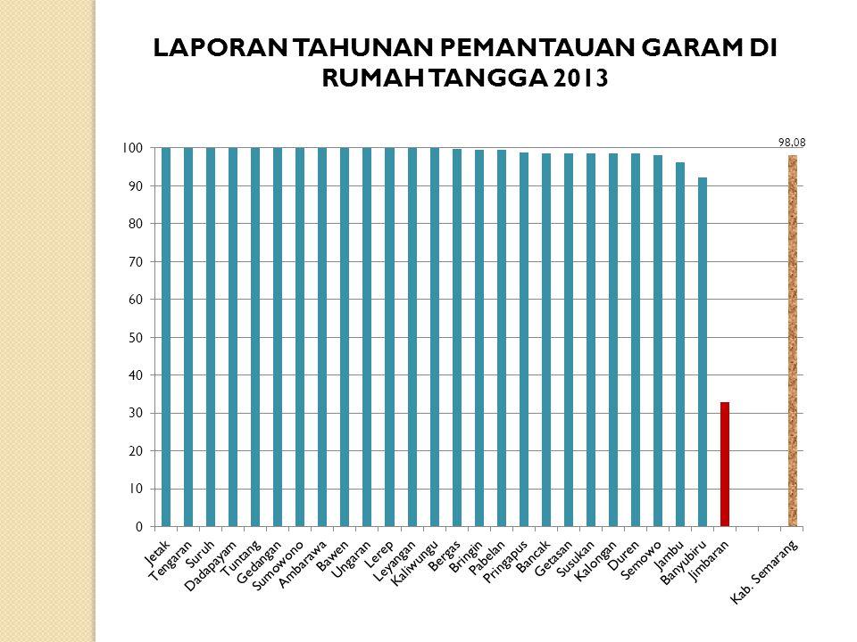 LAPORAN TAHUNAN PEMANTAUAN GARAM DI RUMAH TANGGA 2013