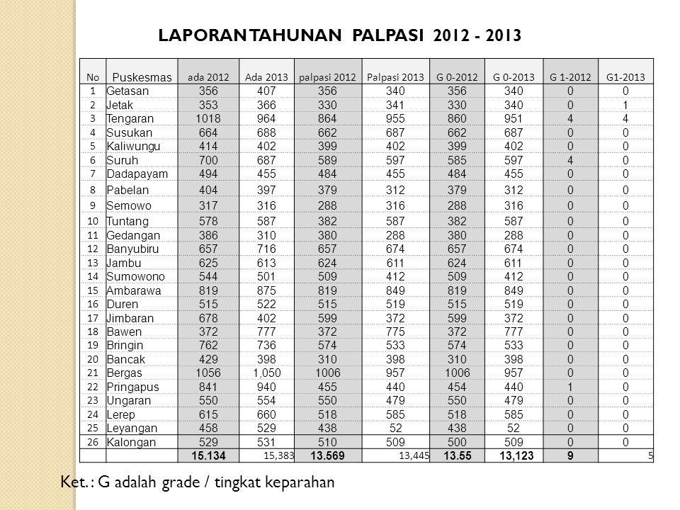 LAPORAN TAHUNAN PALPASI 2012 - 2013