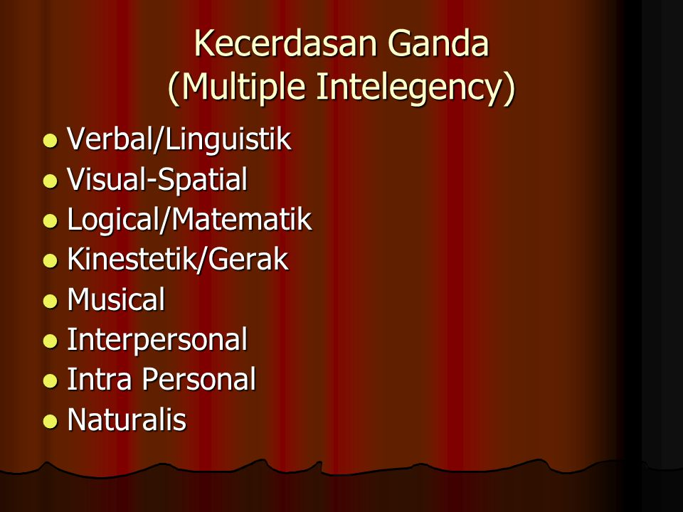 Kecerdasan Ganda (Multiple Intelegency)