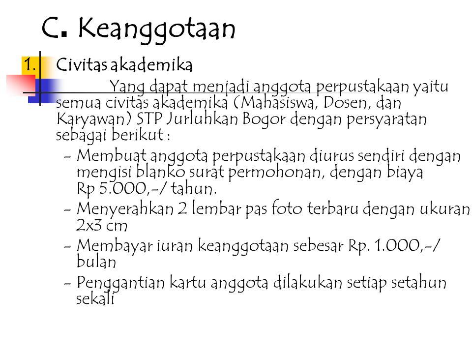 C. Keanggotaan 1. Civitas akademika