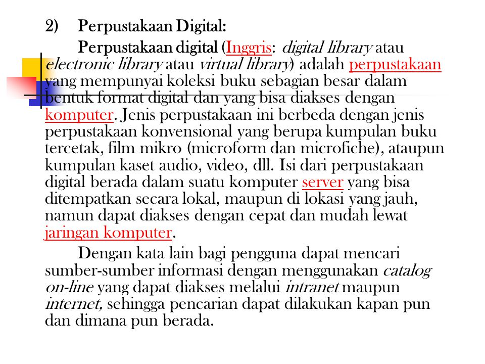 2) Perpustakaan Digital: