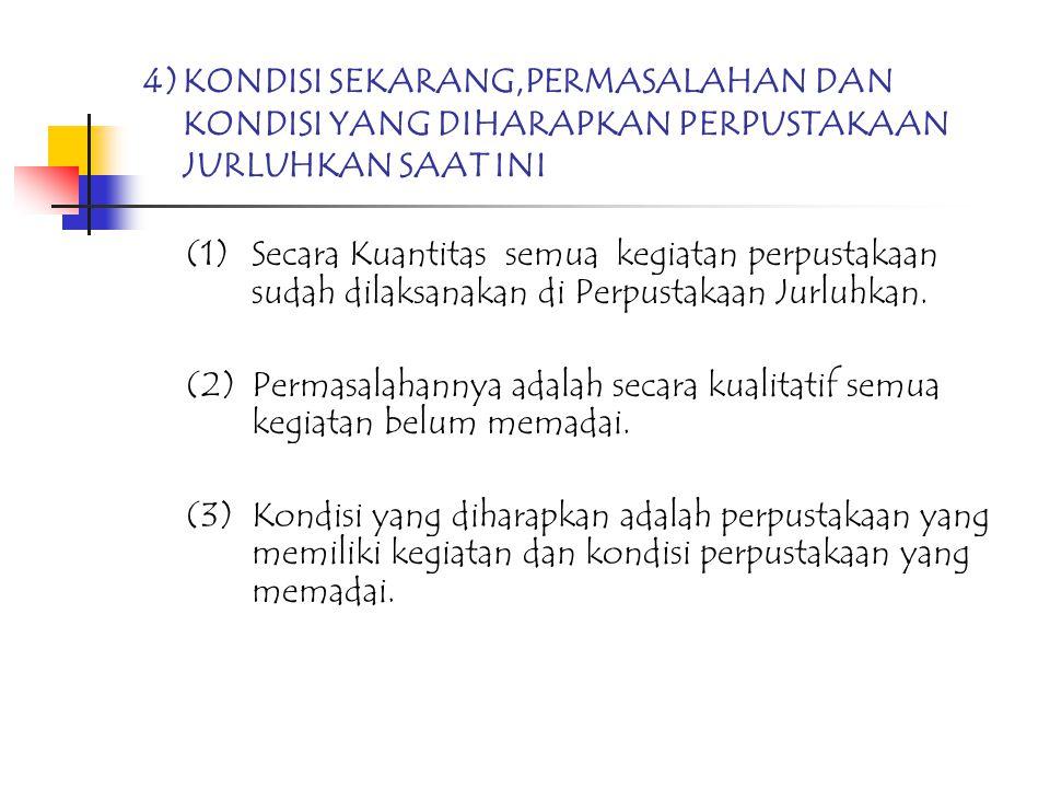 4). KONDISI SEKARANG,PERMASALAHAN DAN