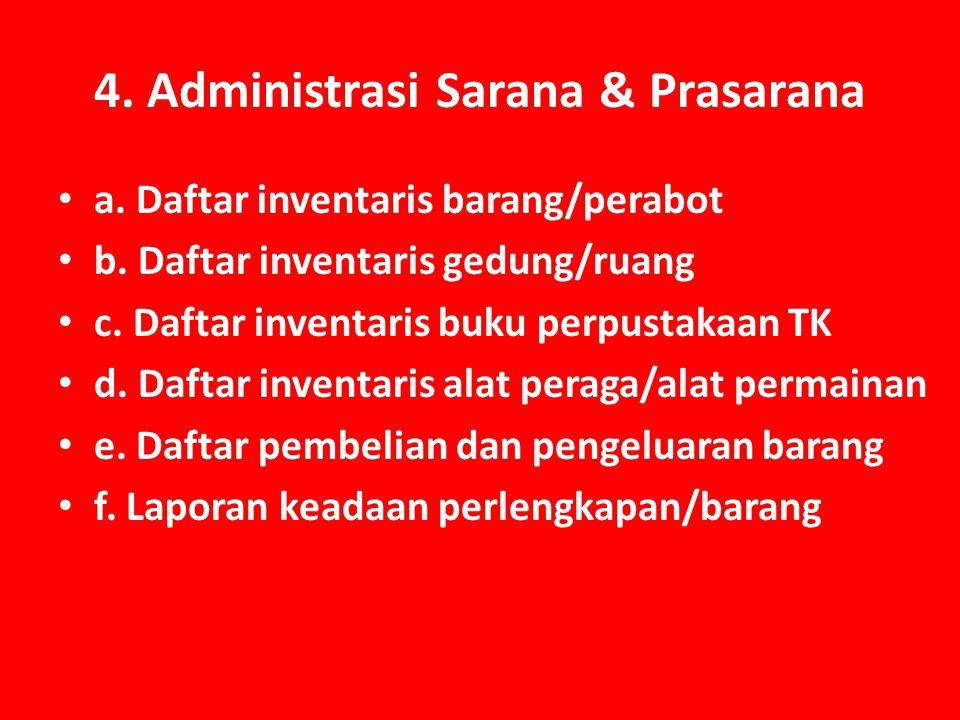 4. Administrasi Sarana & Prasarana