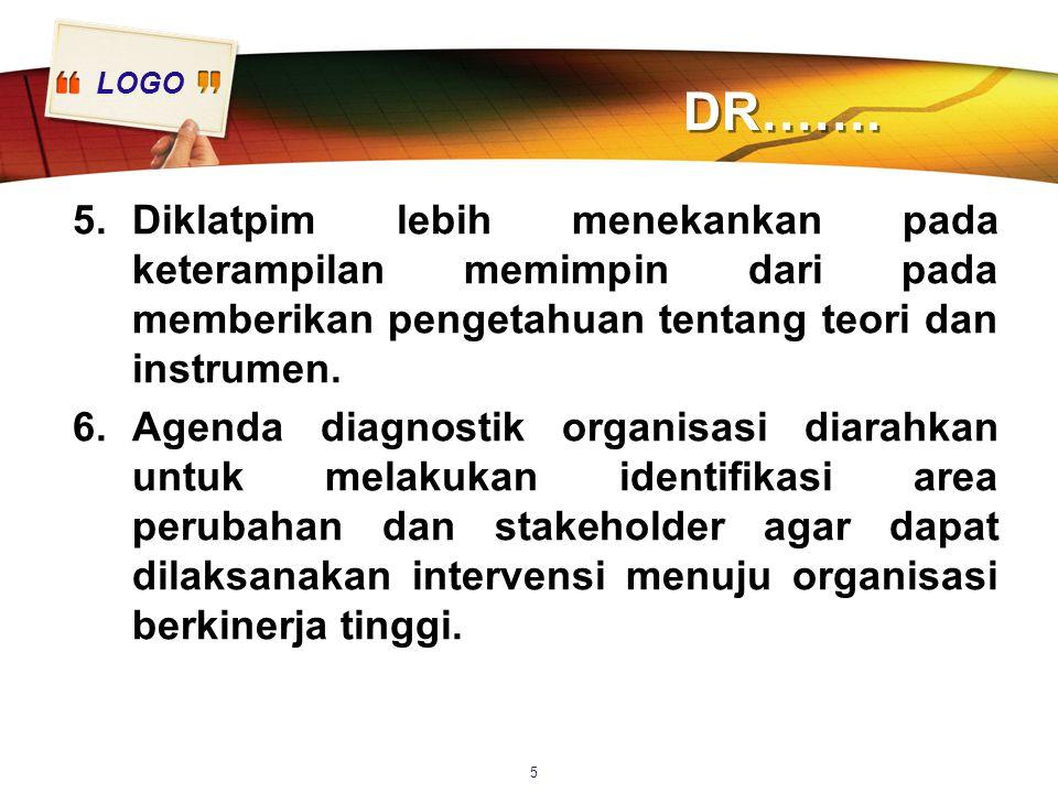 DR……. Diklatpim lebih menekankan pada keterampilan memimpin dari pada memberikan pengetahuan tentang teori dan instrumen.