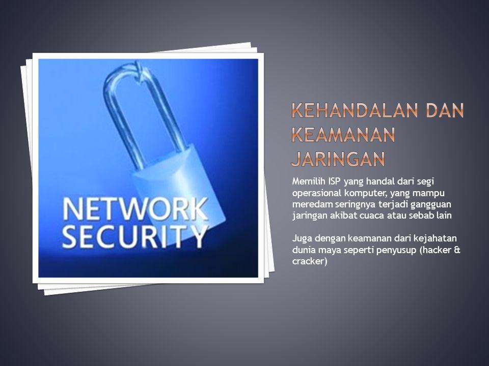 Kehandalan dan keamanan jaringan