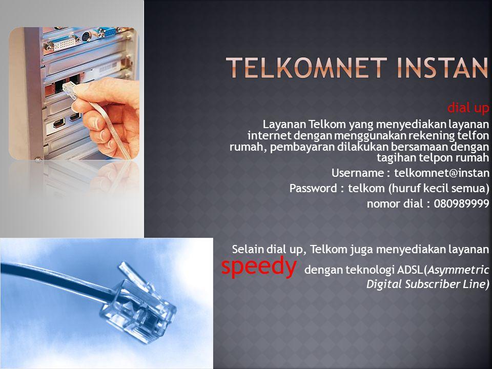 Telkomnet instan dial up
