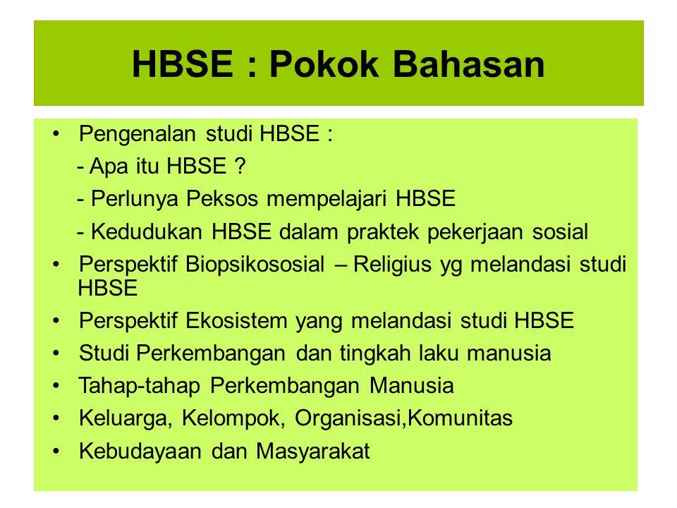 HBSE : Pokok Bahasan • Pengenalan studi HBSE : - Apa itu HBSE
