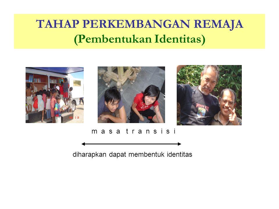 TAHAP PERKEMBANGAN REMAJA (Pembentukan Identitas)