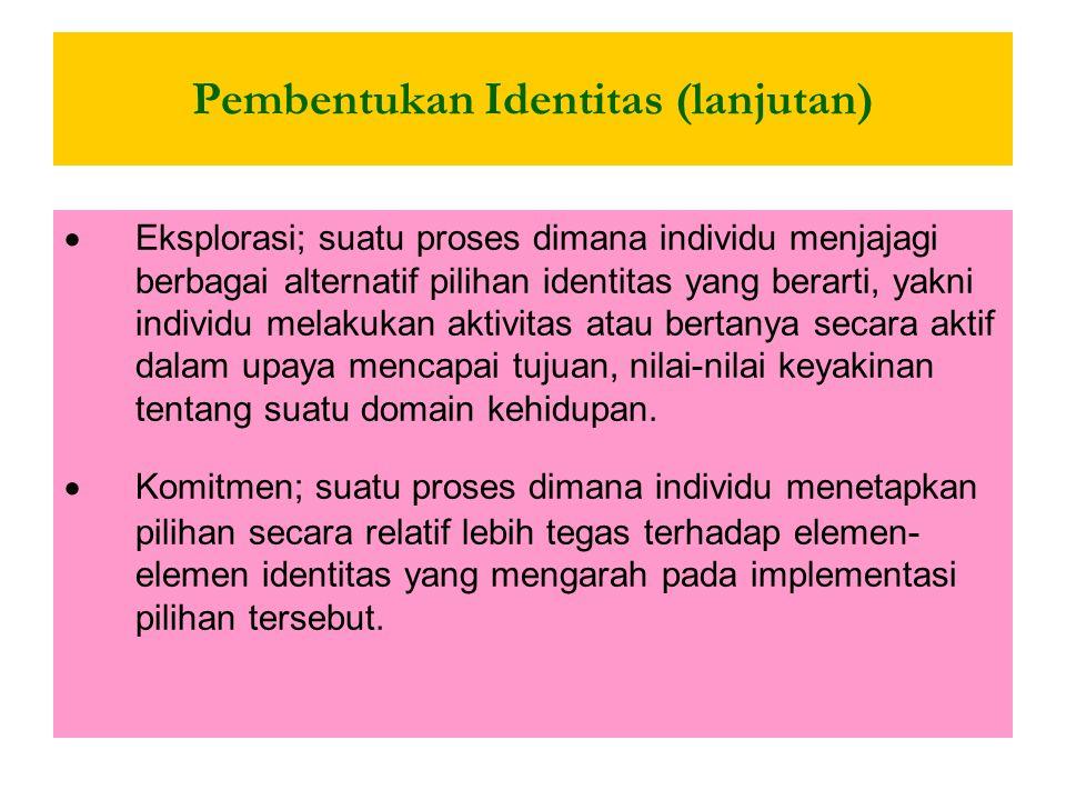 Pembentukan Identitas (lanjutan)