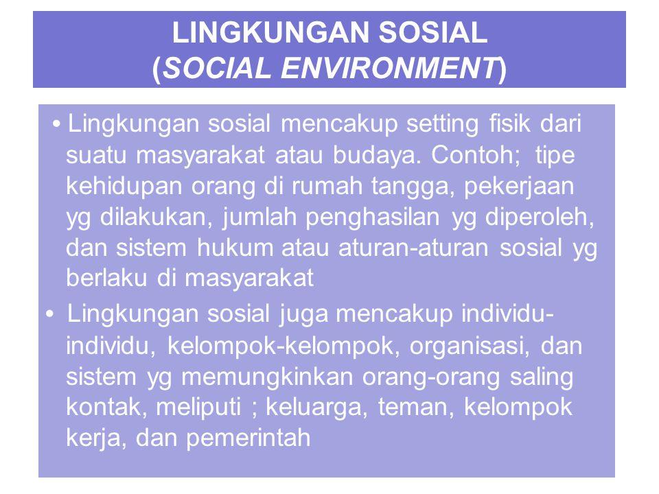 LINGKUNGAN SOSIAL (SOCIAL ENVIRONMENT)