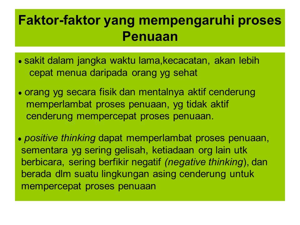 Faktor-faktor yang mempengaruhi proses Penuaan