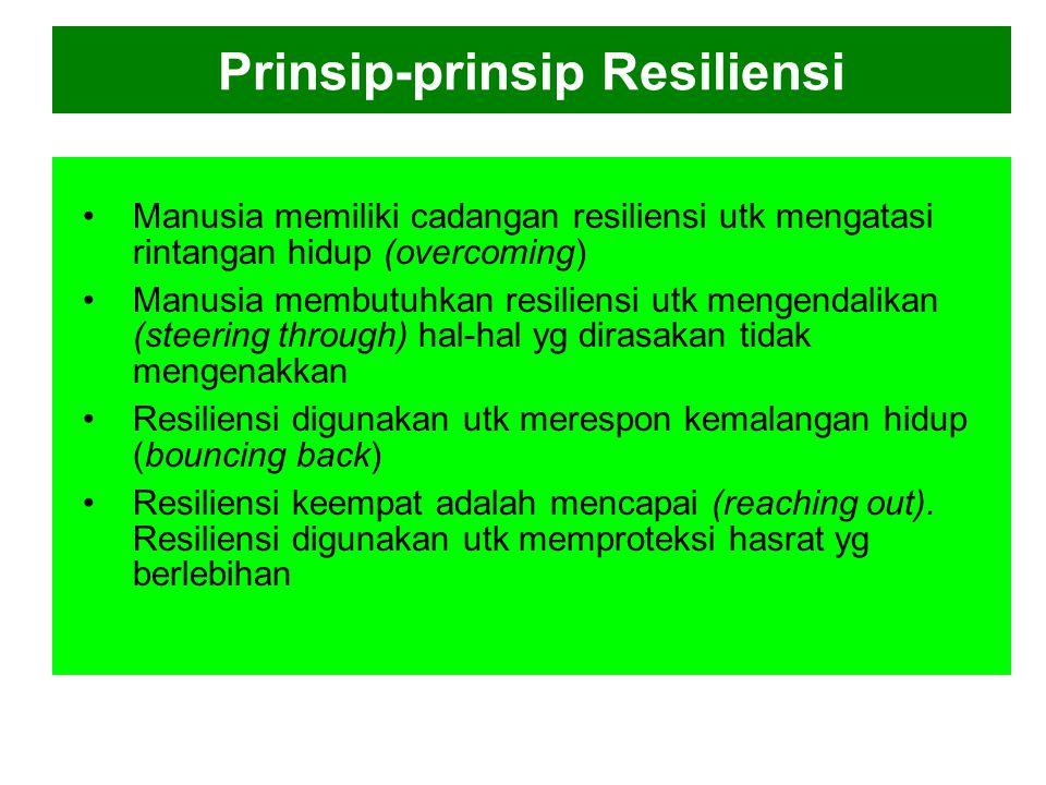 Prinsip-prinsip Resiliensi