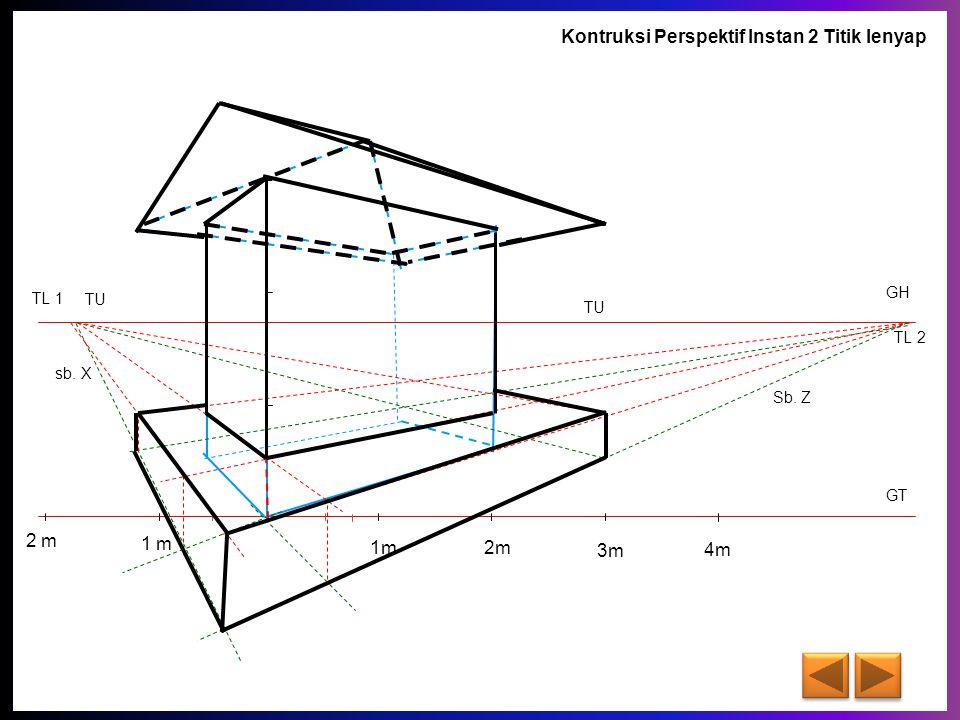 Kontruksi Perspektif Instan 2 Titik lenyap