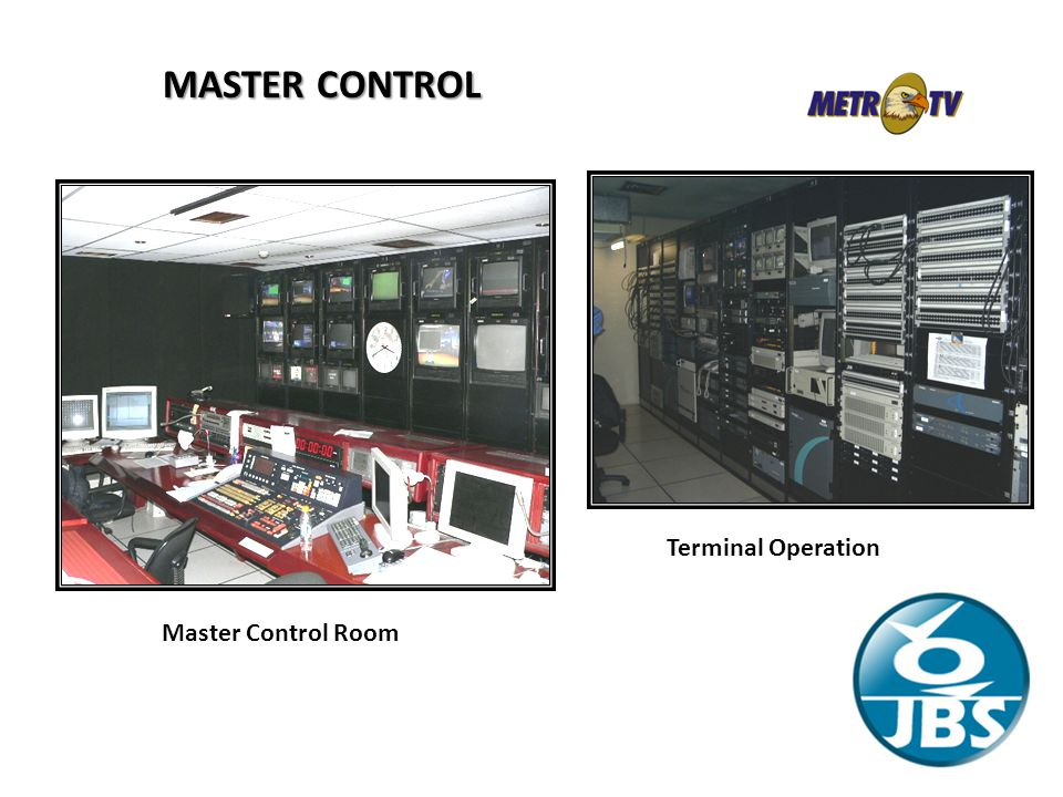 MASTER CONTROL Terminal Operation Master Control Room