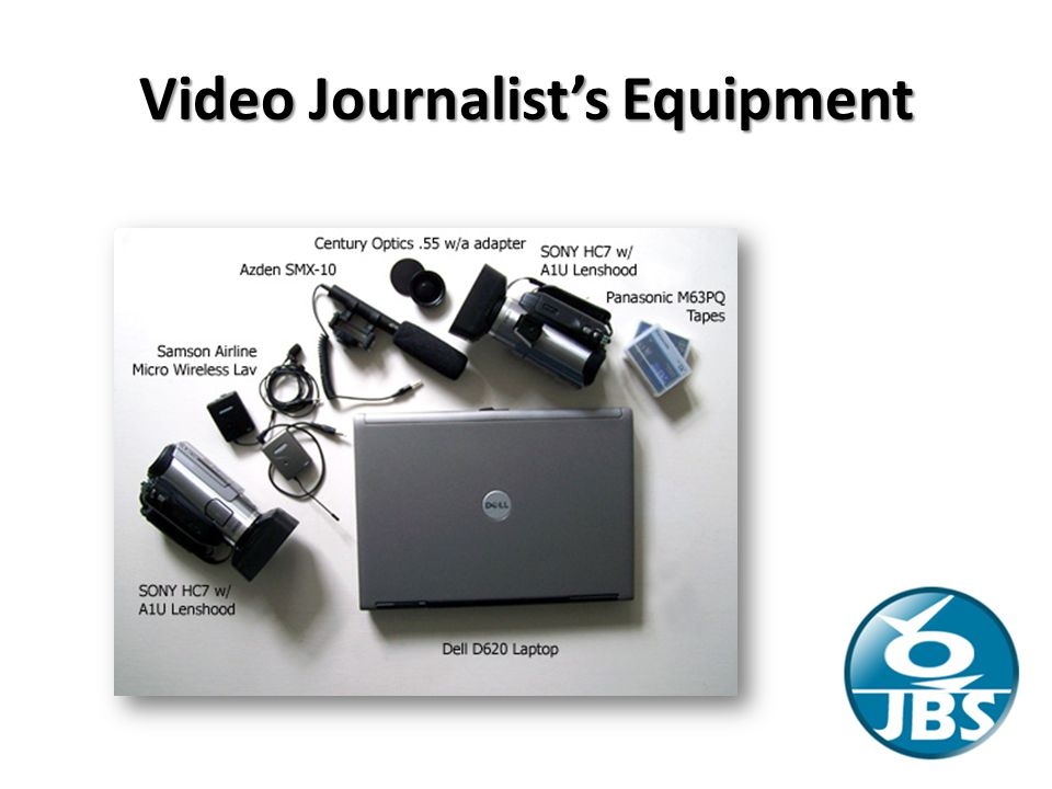 Video Journalist's Equipment