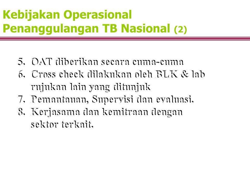 Kebijakan Operasional Penanggulangan TB Nasional (2)