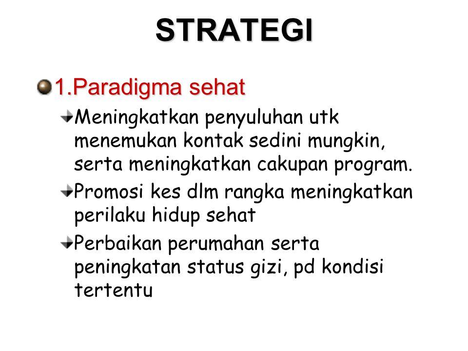 STRATEGI 1.Paradigma sehat