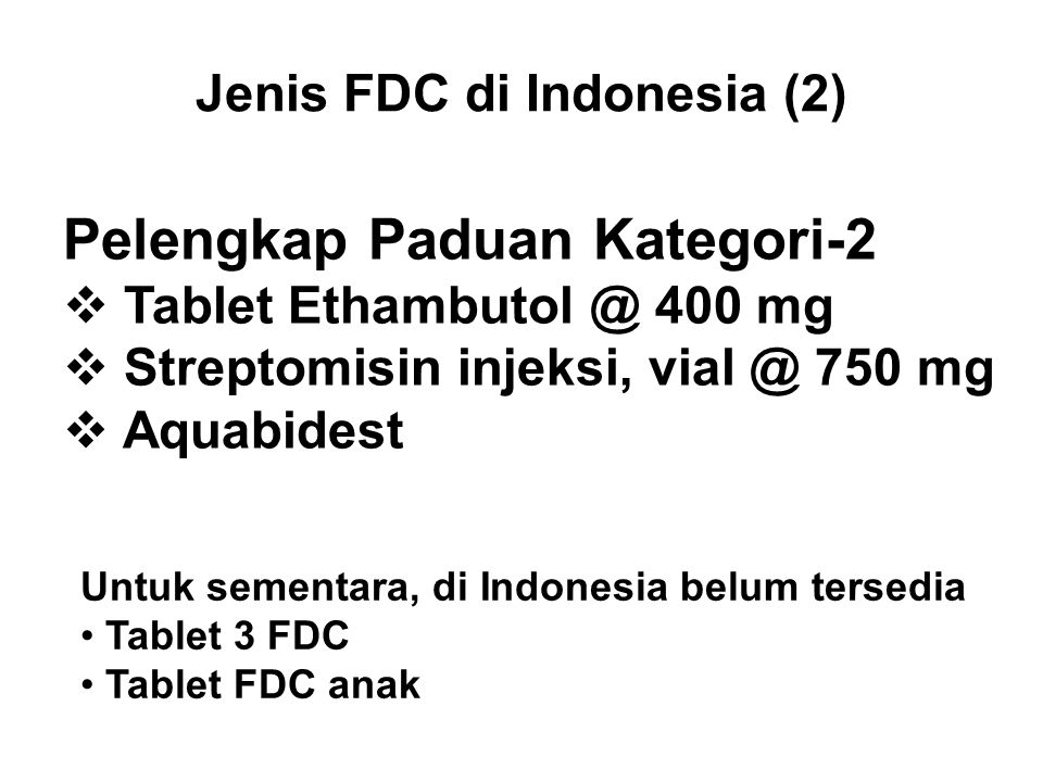 Jenis FDC di Indonesia (2)