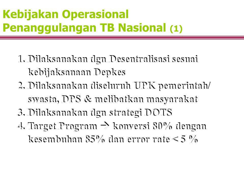 Kebijakan Operasional Penanggulangan TB Nasional (1)