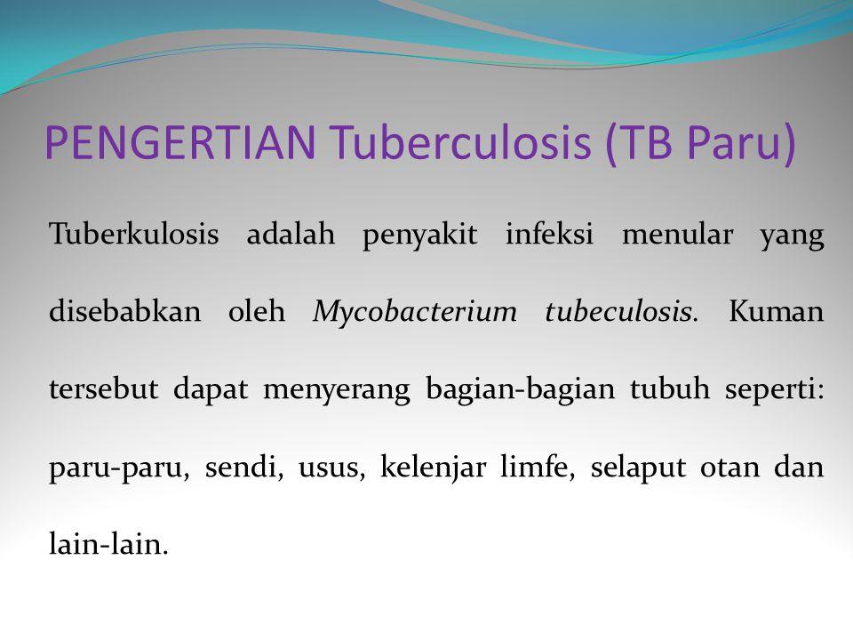 PENGERTIAN Tuberculosis (TB Paru)