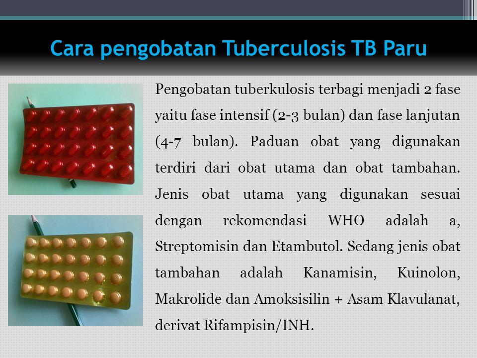 Cara pengobatan Tuberculosis TB Paru