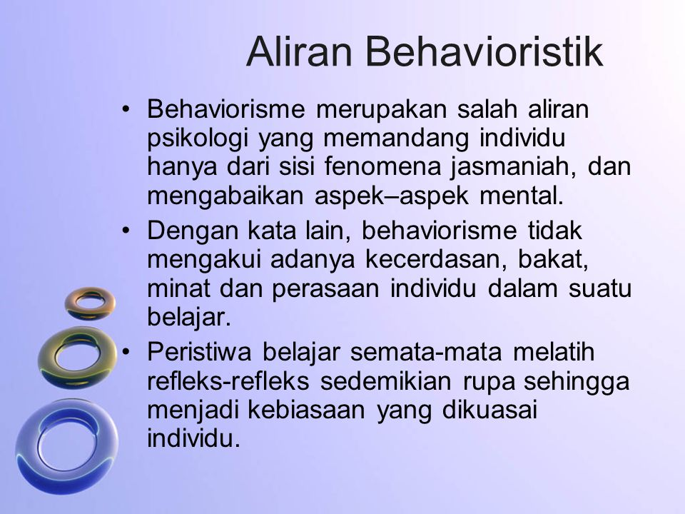 Aliran Behavioristik