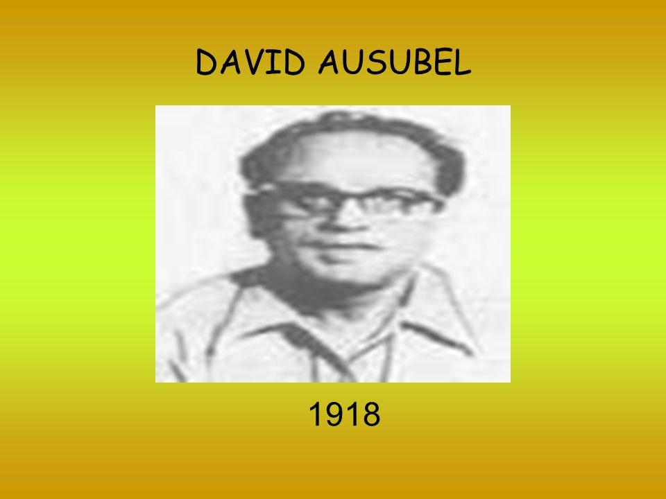 DAVID AUSUBEL 1918
