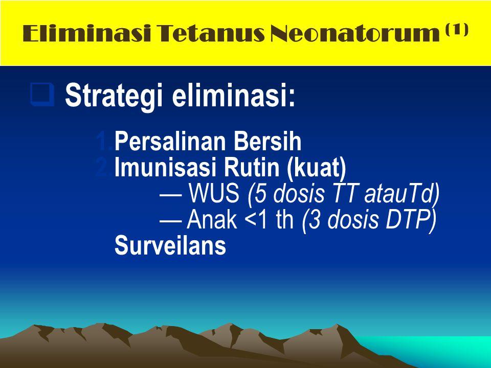 Eliminasi Tetanus Neonatorum (1)