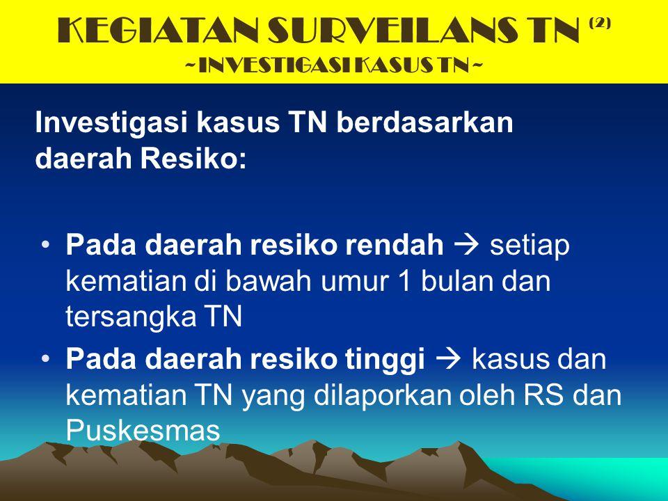 KEGIATAN SURVEILANS TN (2) ~INVESTIGASI KASUS TN~