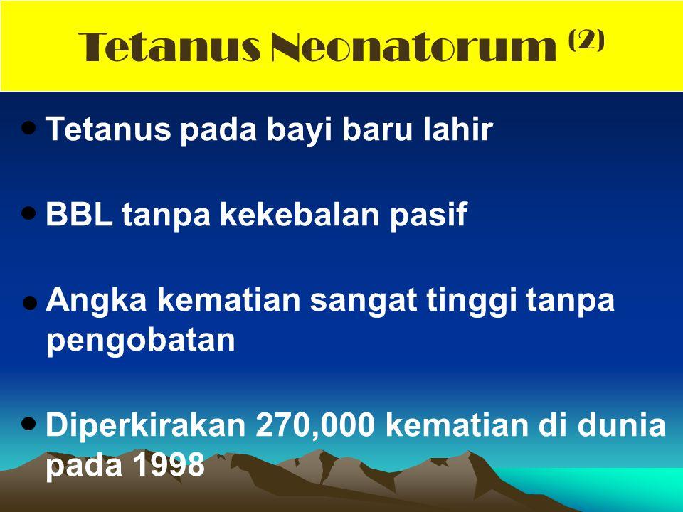 Tetanus Neonatorum (2) Tetanus pada bayi baru lahir