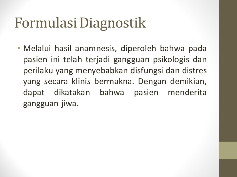 Formulasi Diagnostik