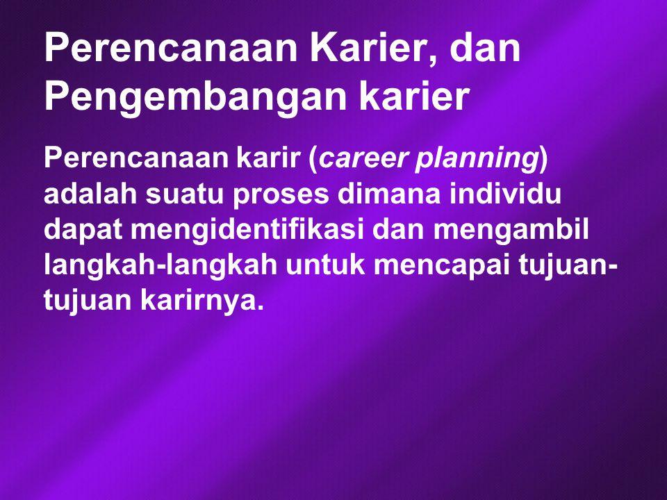 Perencanaan Karier, dan Pengembangan karier
