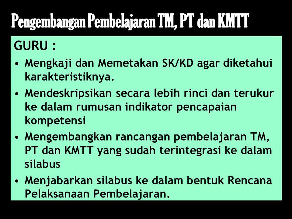 Pengembangan Pembelajaran TM, PT dan KMTT