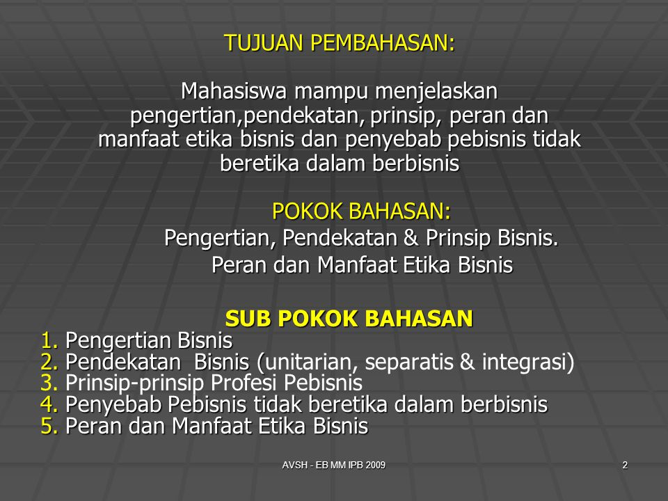 Pendekatan Bisnis (unitarian, separatis & integrasi)