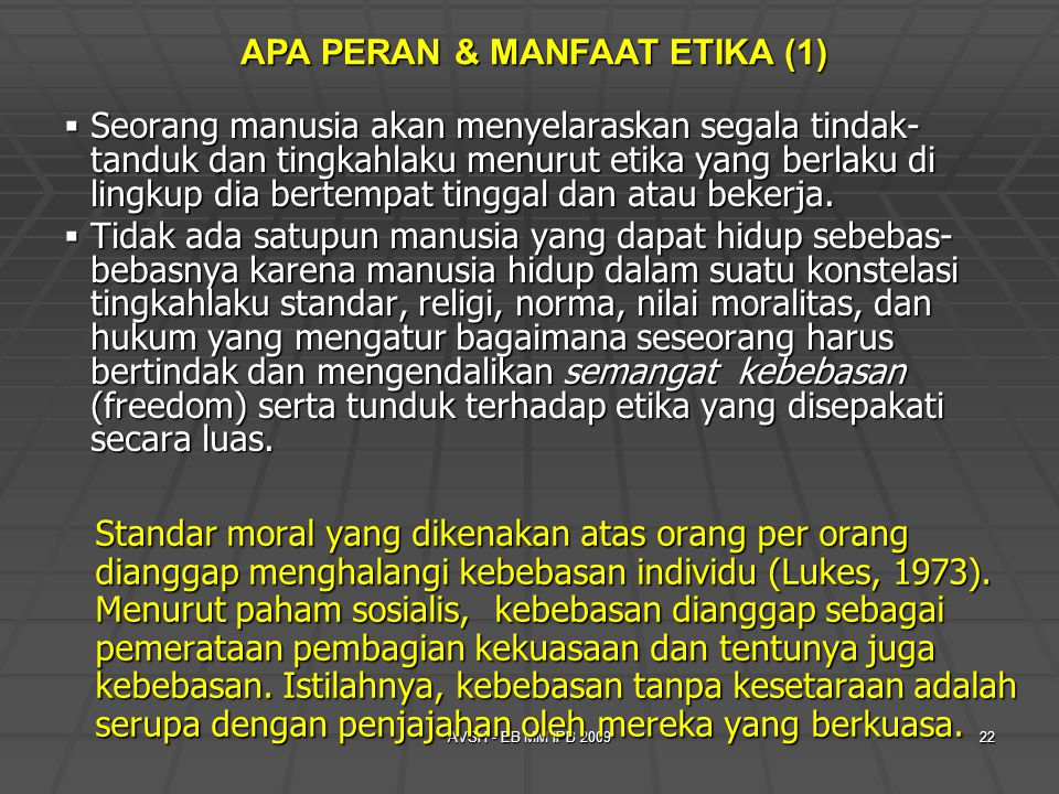APA PERAN & MANFAAT ETIKA (1)
