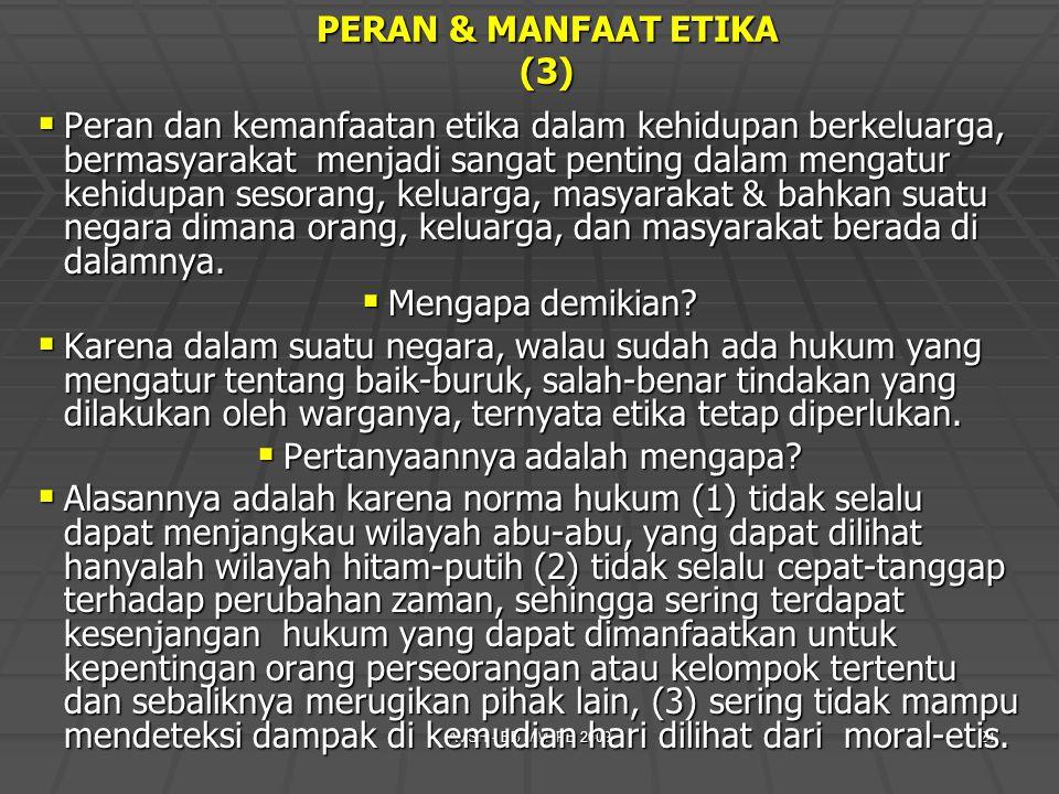 PERAN & MANFAAT ETIKA (3)