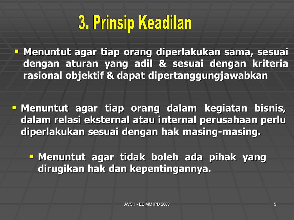 3. Prinsip Keadilan