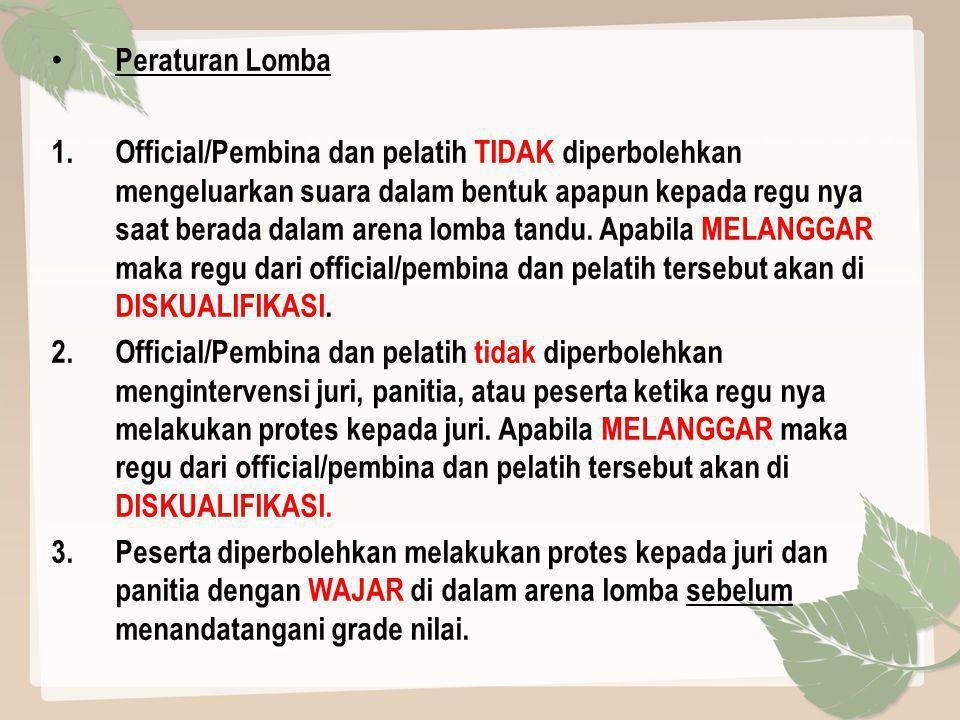 Peraturan Lomba