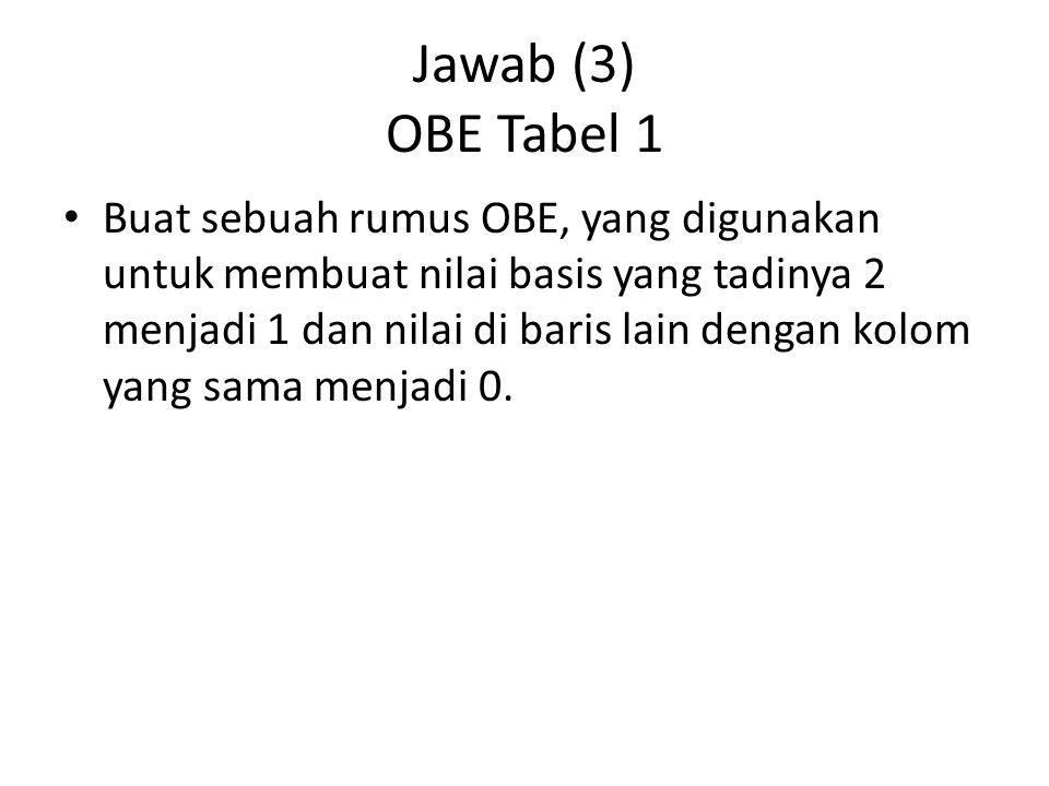 Jawab (3) OBE Tabel 1