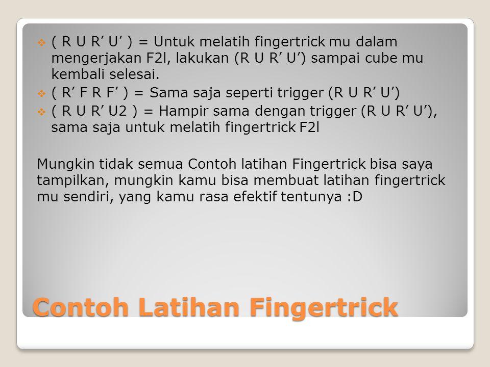Contoh Latihan Fingertrick