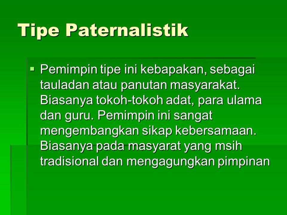 Tipe Paternalistik