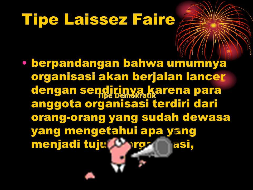 Tipe Laissez Faire