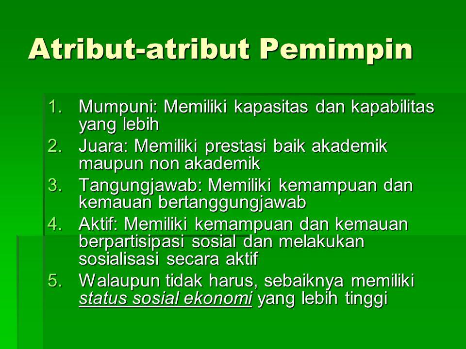 Atribut-atribut Pemimpin