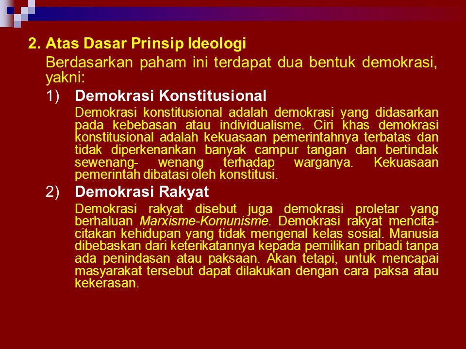 2. Atas Dasar Prinsip Ideologi
