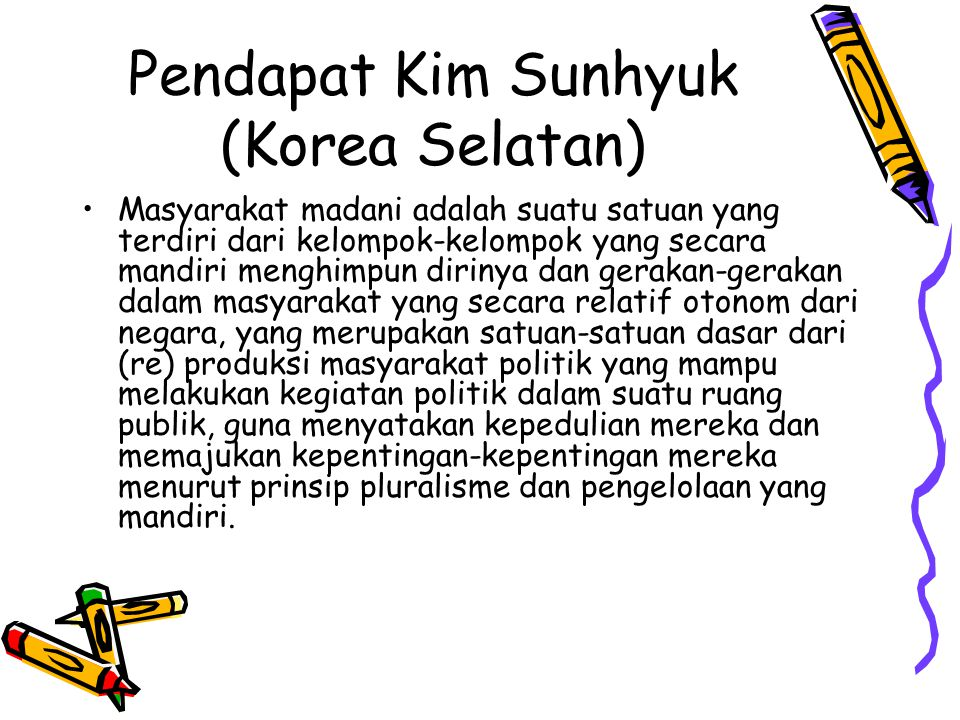 Pendapat Kim Sunhyuk (Korea Selatan)